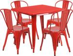 Flash Furniture ETCT002430REDGG