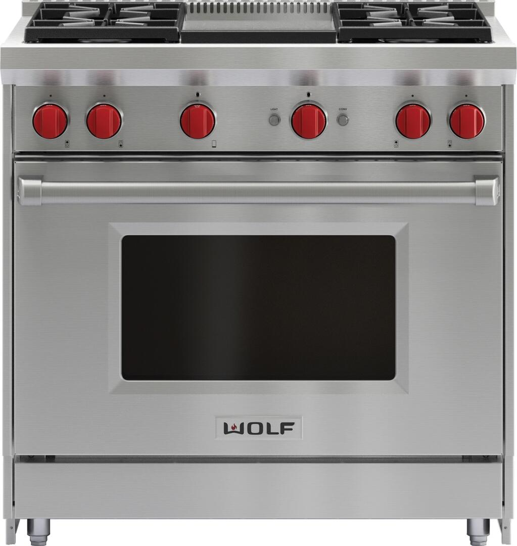 Kitchen gas stove top view - Wolf Main Image