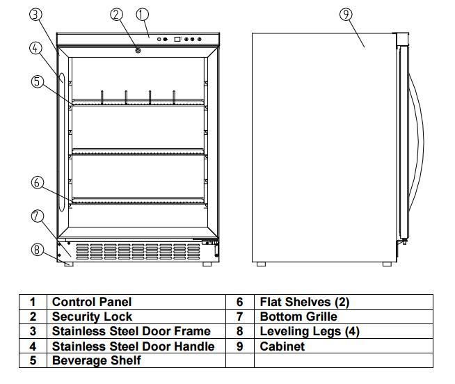 avanti refrigerator wiring diagram ge refrigerator wiring diagram defrost heater avanti bca5105sg1 24 inch 5.3 cu. ft. beverage center, in ... #13