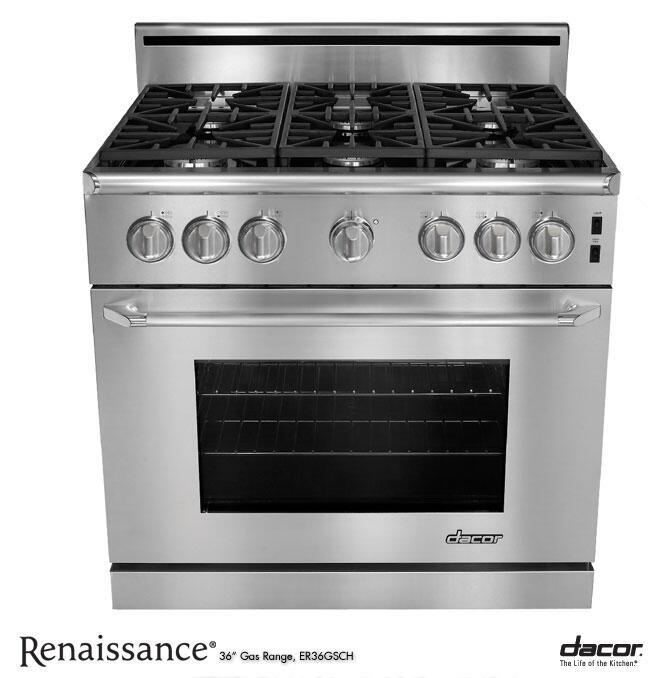 Dacor er36gschlp 36 inch renaissance series gas for Best slide in gas range under 2000