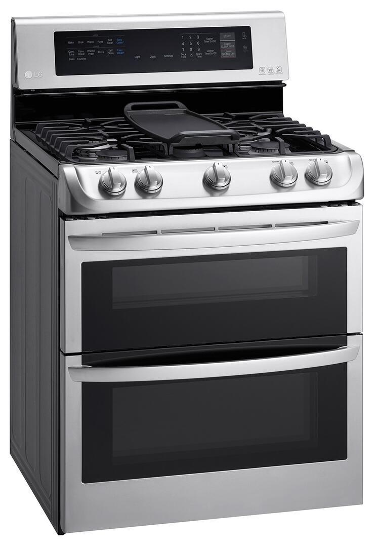 lg ldg4315st 30 inch gas freestanding range with sealed burner cooktop 4 3 cu ft primary oven. Black Bedroom Furniture Sets. Home Design Ideas