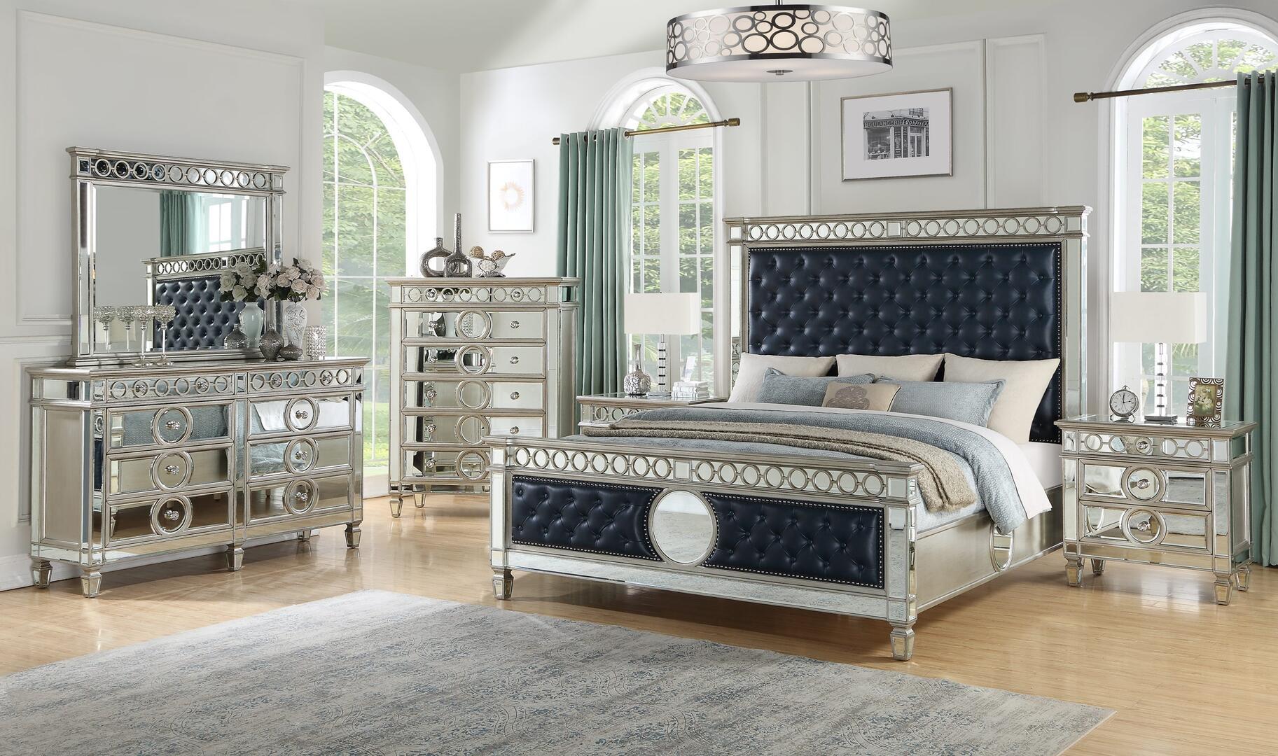 Cosmos Furniture Brooklyn 6 Piece Queen Size Bedroom Set