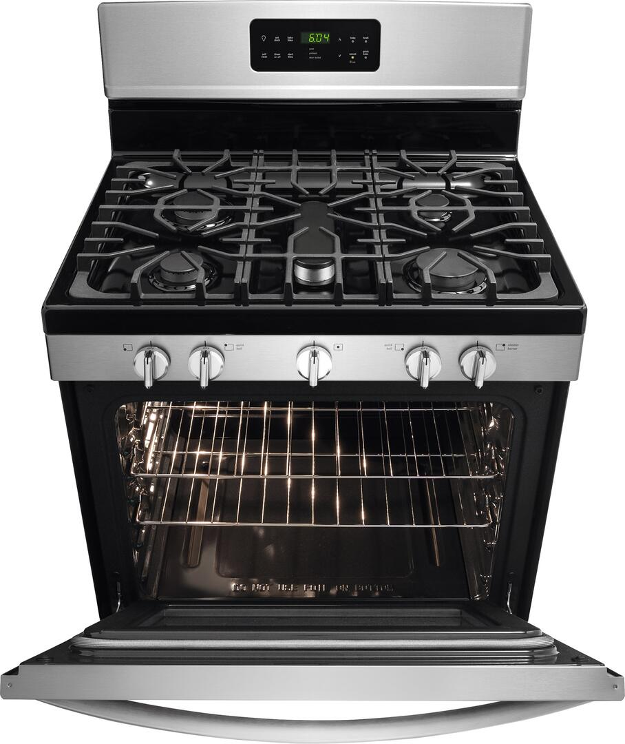 Kitchen gas stove top view -  Frigidaire Gallery Front View Door Open Frigidaire Gallery Top