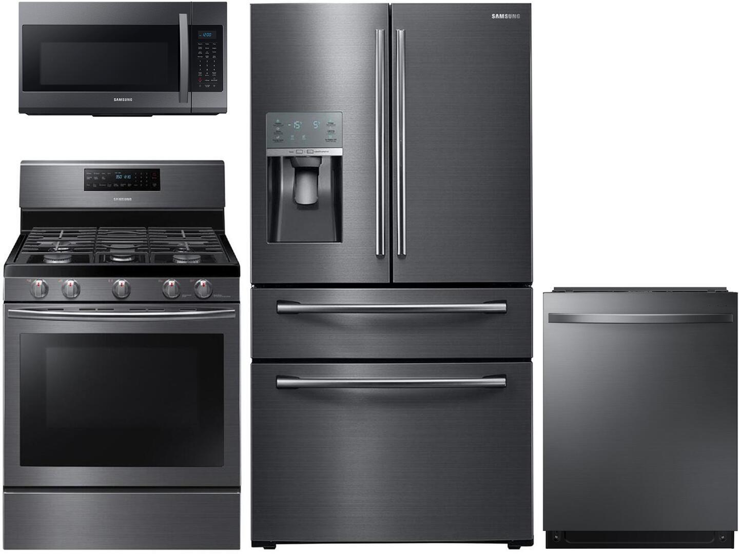 Black Stainless Steel Kitchen Appliances: Samsung Appliance 602411 Black Stainless Steel Kitchen