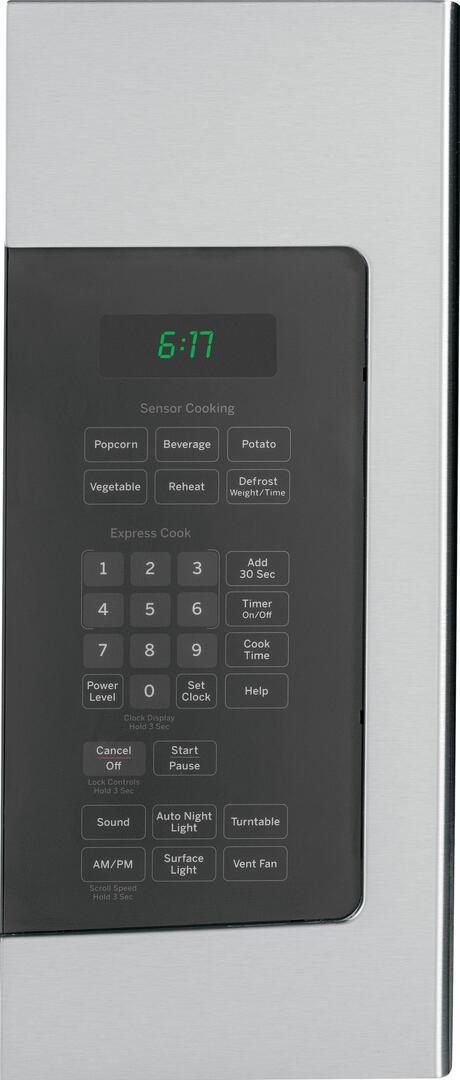 Ge Jvm6177sfss 1 7 Cu Ft Over The Range Microwave Oven
