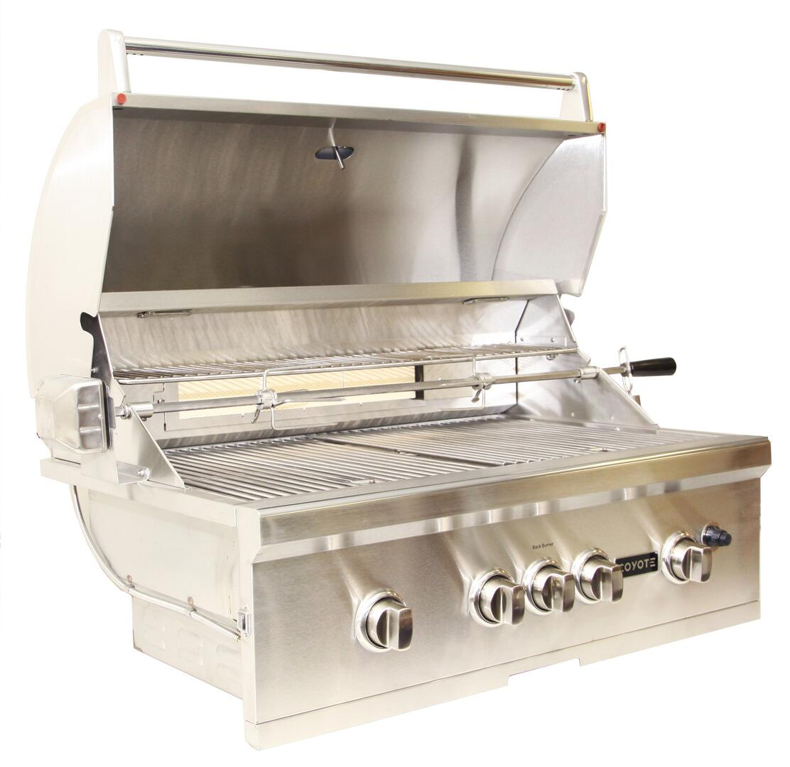 Coyote cs36lp built in grill in stainless steel for Coyote outdoor grills reviews
