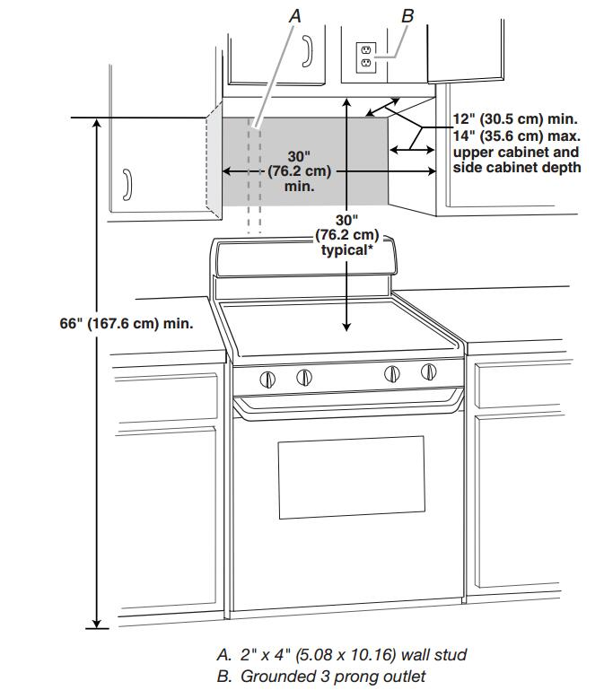 Kitchen Stove Installation Guide: Whirlpool WMH32519HZ 1.9 Cu. Ft. Fingerprint Resistant