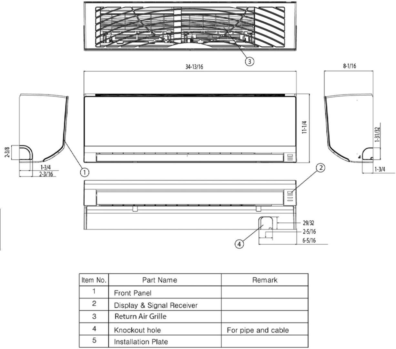 Lg Lan090hsv4 Mini Split Air Conditioner Cooling Area