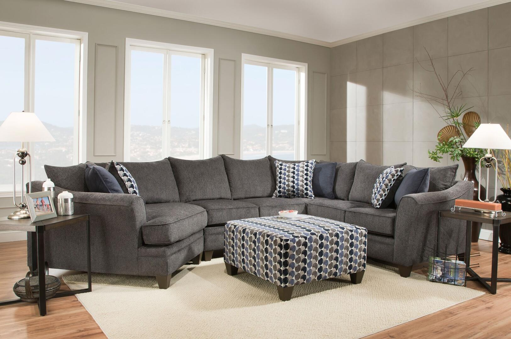 Simmons Upholstery 6485097sec Albany Sectional Sofas Appliances