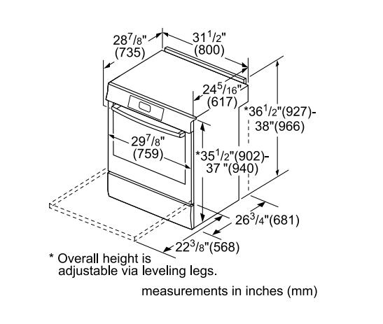 Bosch Hii8055u 30 Inch 800 Series Slide In Electric Range