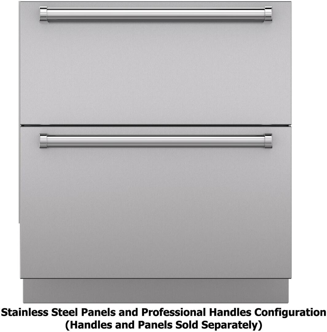 Sub Zero Stainless Steel Panels And Pro Handles Configuration