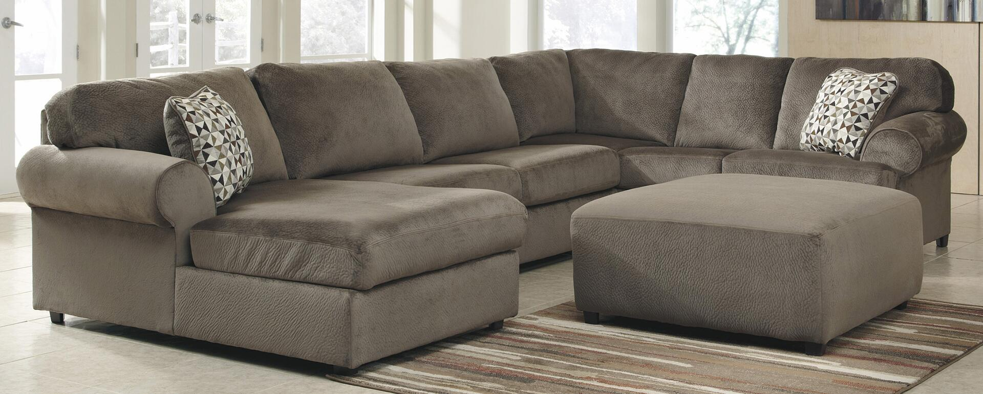 Attirant ... Signature Design By Ashley Jessa Place Sectional Sofa With Optional  Ottoman ...