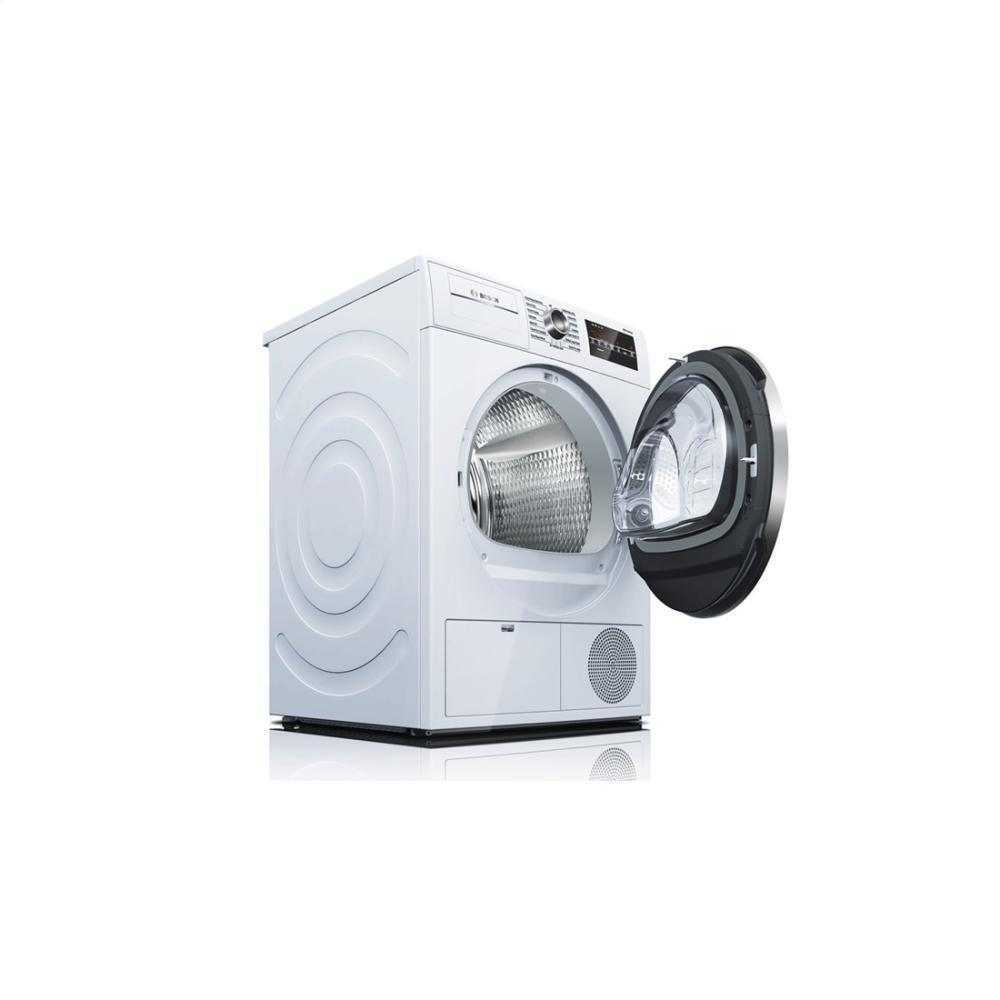 Bosch Dryer: Bosch WTG86402UC 24 Inch 800 Series White 4 Cu. Ft