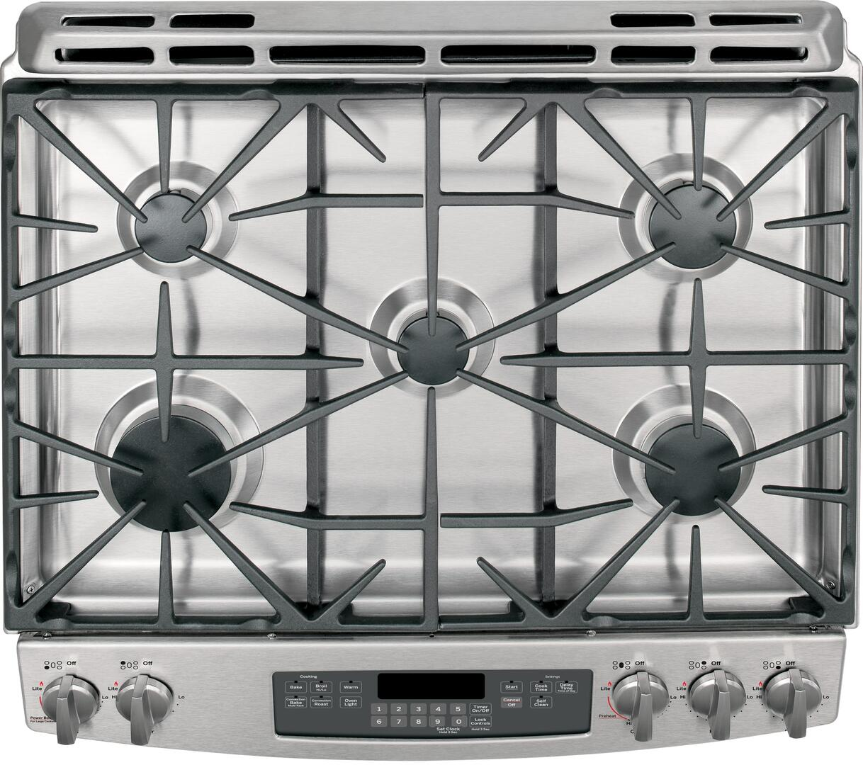 Kitchen gas stove top view -  Ge Cooktop View