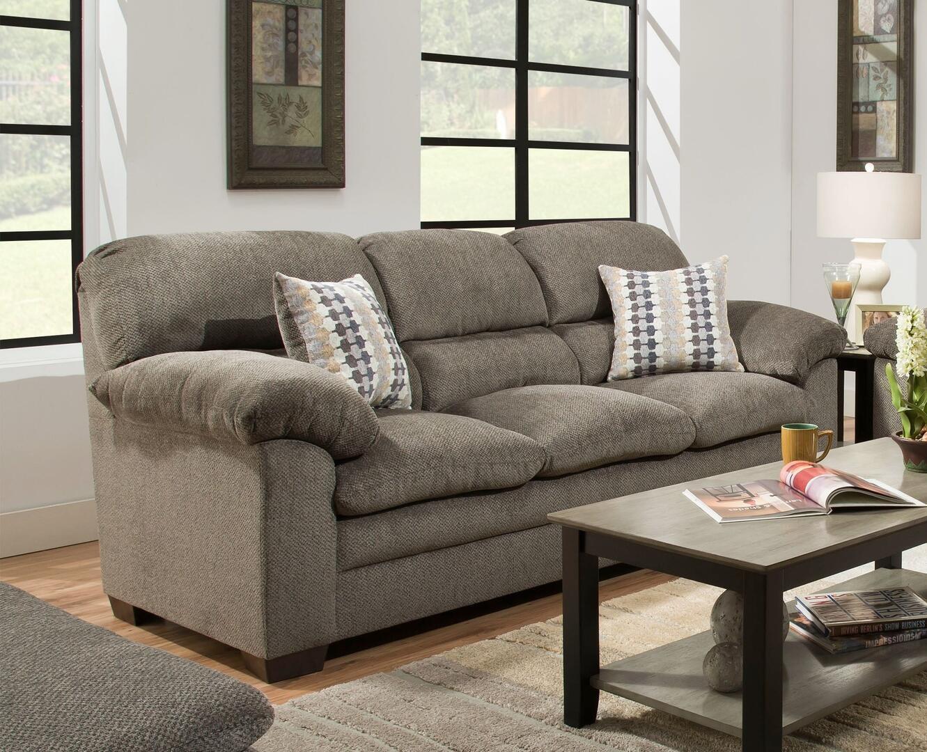 Simmons Upholstery 368303harlowash Harlow Series Stationary Chenille