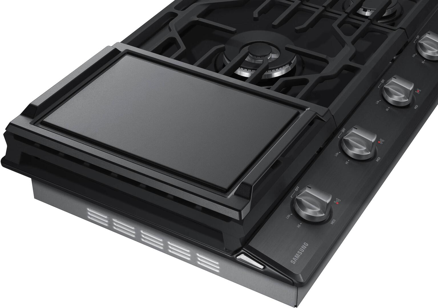 samsung black stainless steel griddle