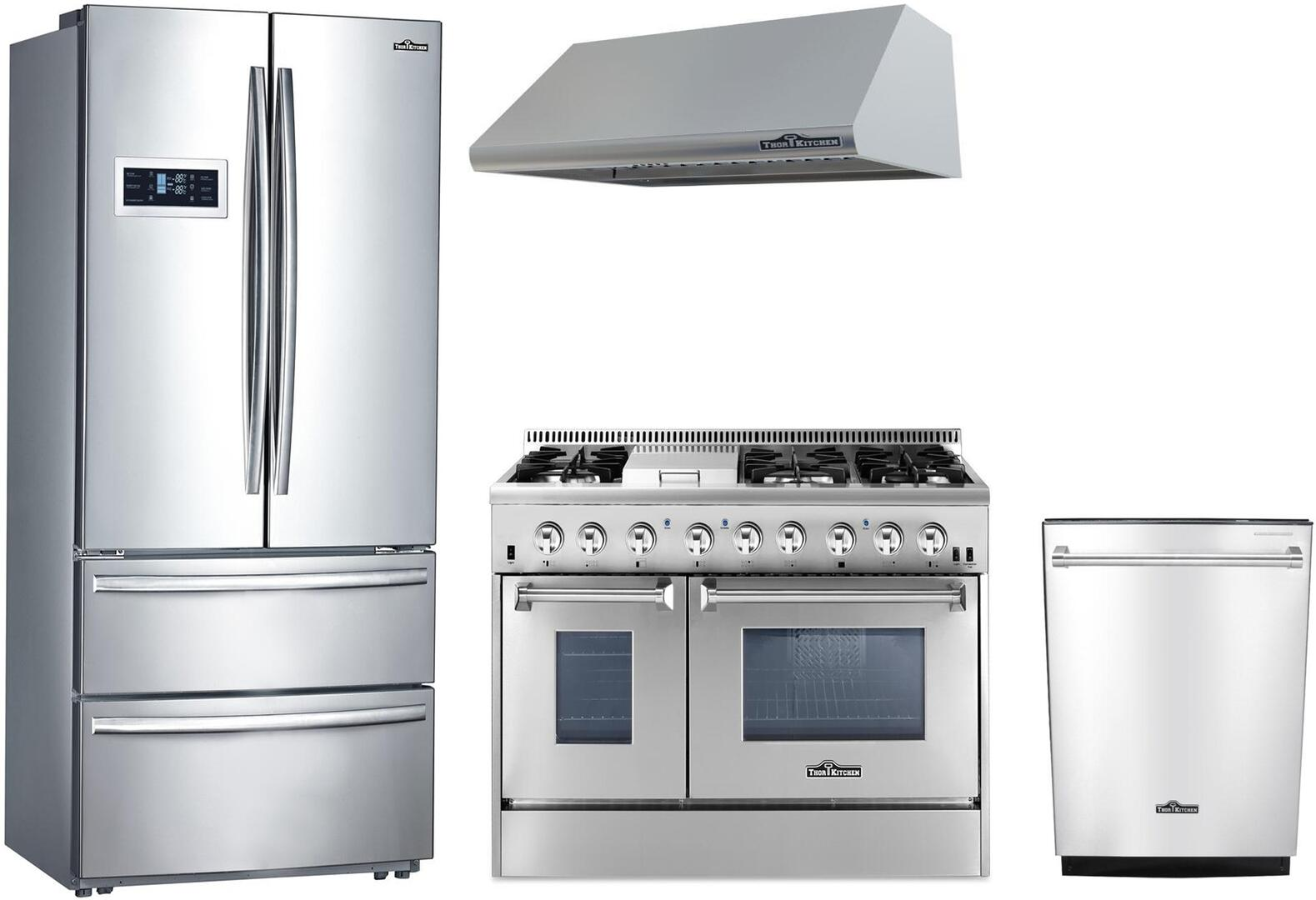 Thor kitchen 873448 kitchen appliance packages for Kitchen appliance comparison sites