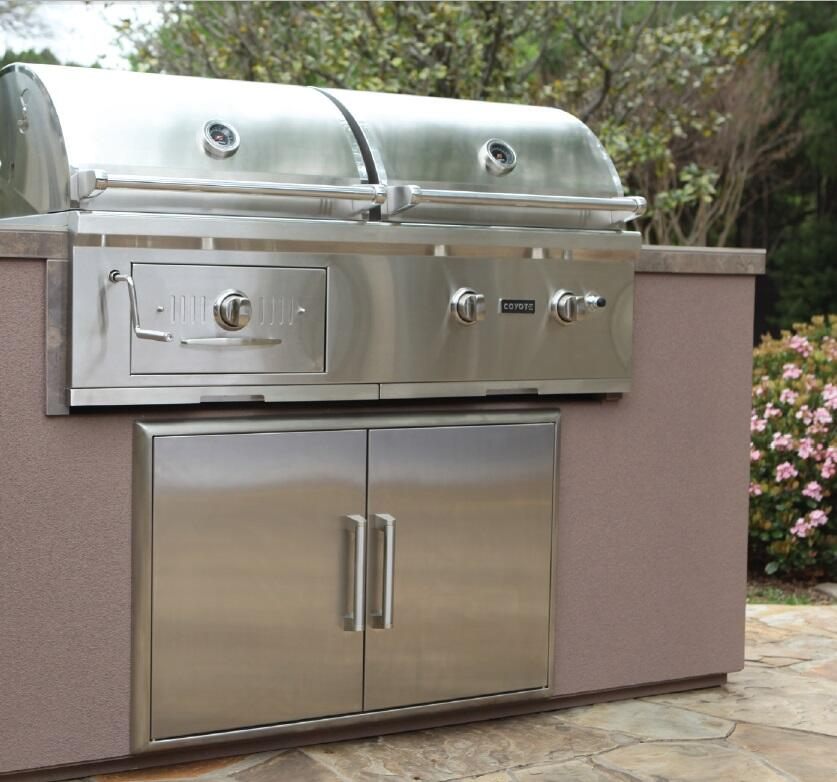 Coyote ch50ng 50 inch built in grill in stainless steel for Coyote outdoor grills reviews