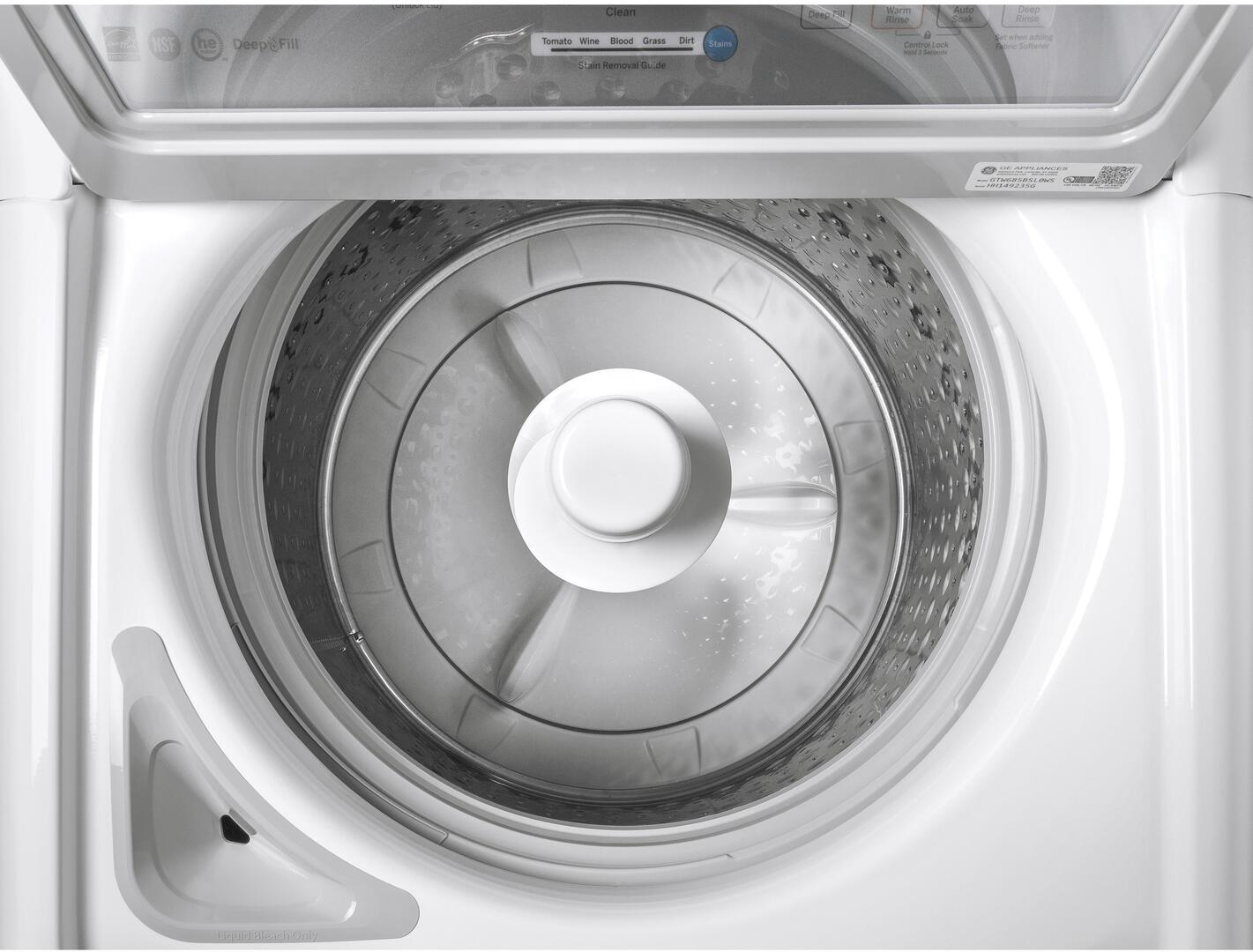 GE GTW685BSLWS 27 Inch 4.5 cu. ft. Top Load Washer, in White ...
