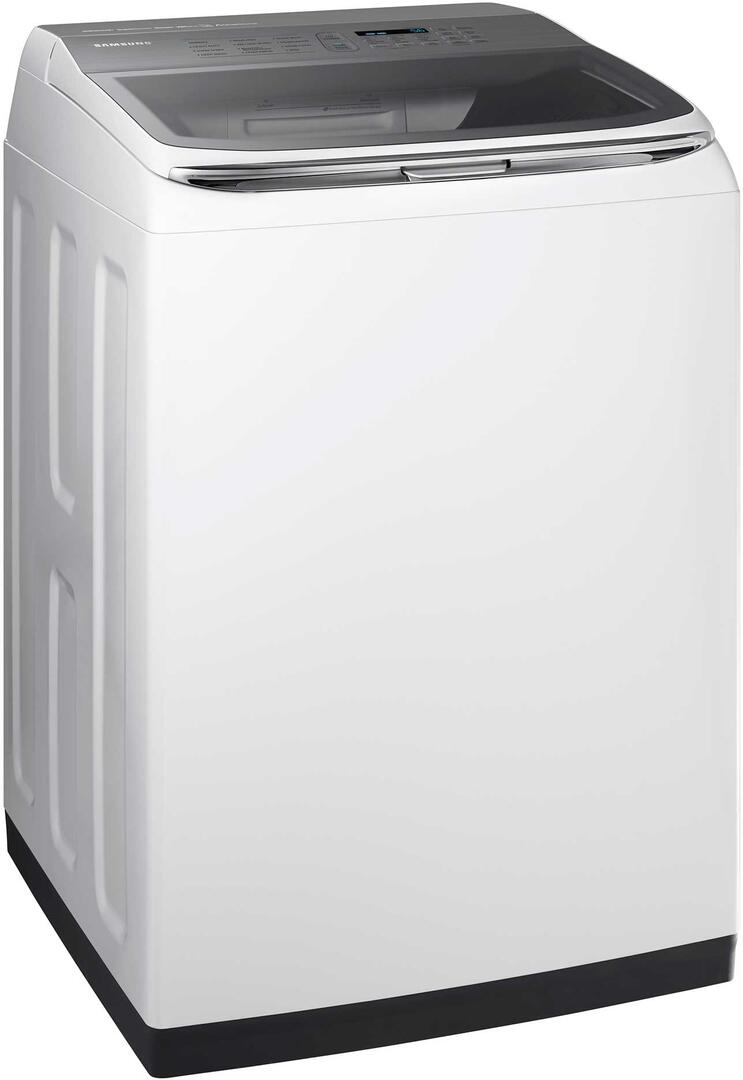 Samsung WA54M8750AW 27 Inch Smart 5.4 cu. ft. Top Load Washer, in White   Appliances Connection