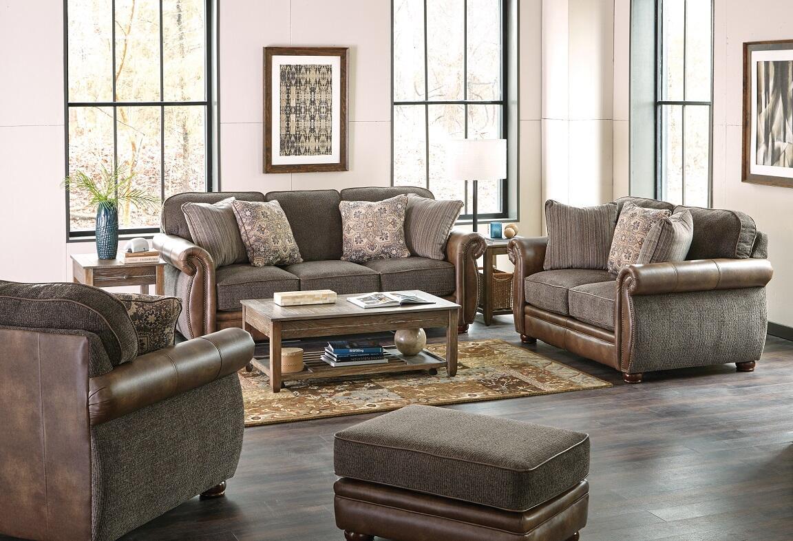 Jackson Furniture 443904162018126749 Pennington Series Loveseat Sleeper Chenille Sofa