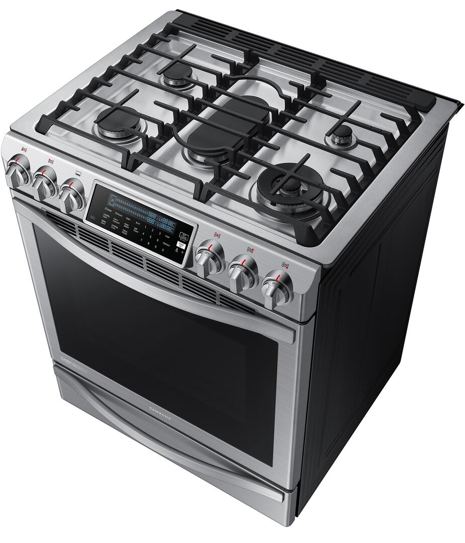 Kitchen gas stove top view -  Samsung Chef Top Angled View