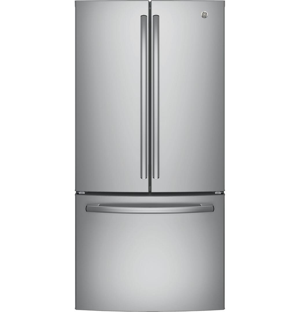 Ge Gne25jskss 33 Inch French Door Refrigerator With 24 8