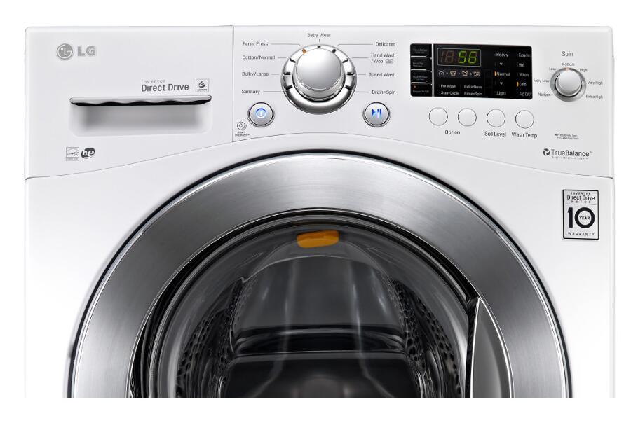 Lg Wm1377hw Lg Front Load Washer White Appliances