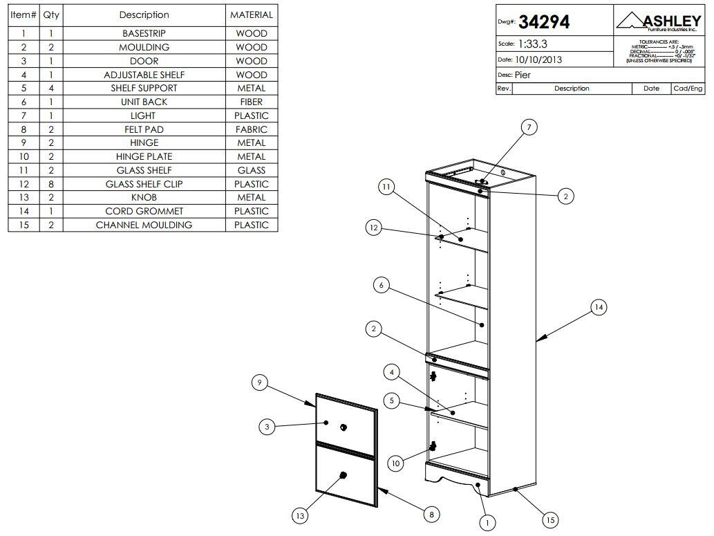 pier parts diagram