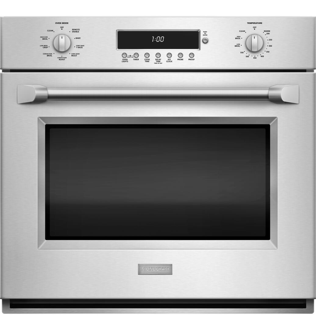 ge monogram zet1phss 30 inch single wall oven   in stainless steel