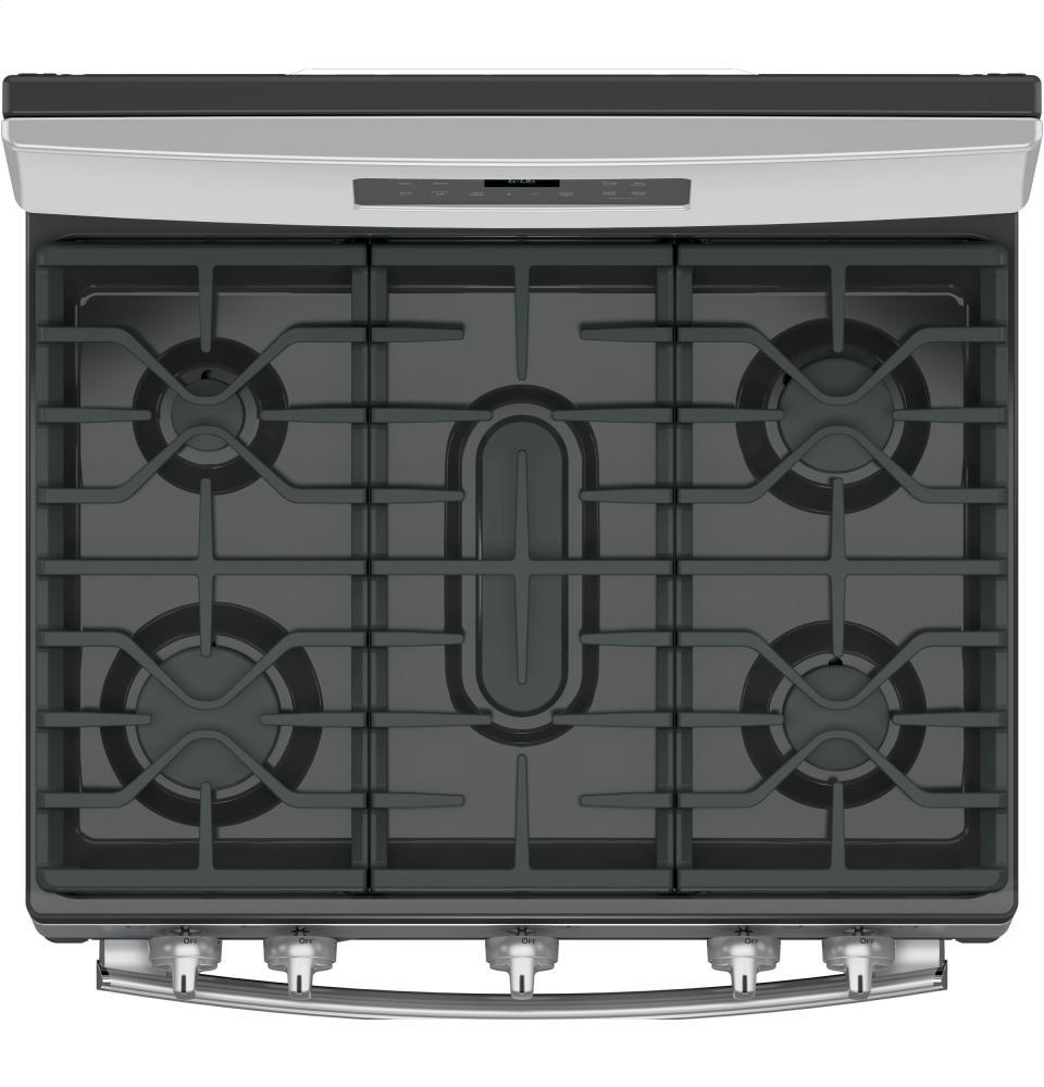 Kitchen gas stove top view -  Ge Burner View
