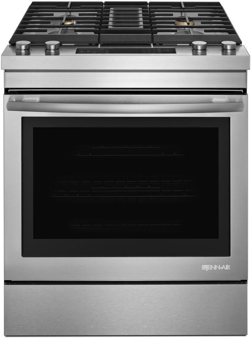 jenn air jds1750fs 30 inch stainless steel slide in dual fuel range with sealed burner cooktop. Black Bedroom Furniture Sets. Home Design Ideas