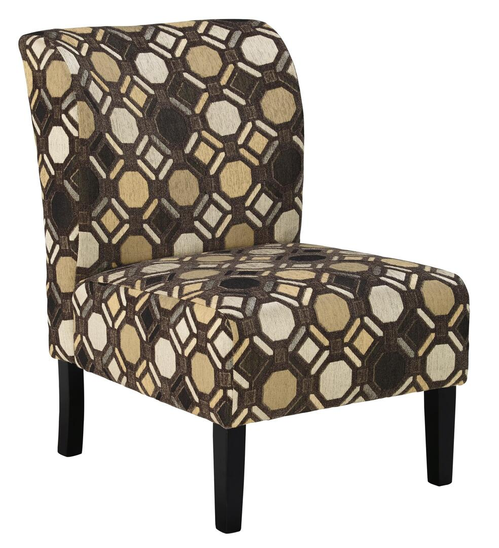 Signature Design By Ashley 9910160 Tibbee Series Slipper Fabric Wood Frame Accent Chair