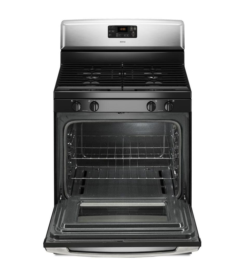 Maytag mgr7685ab 30 inch gas freestanding range with for Best slide in gas range under 2000