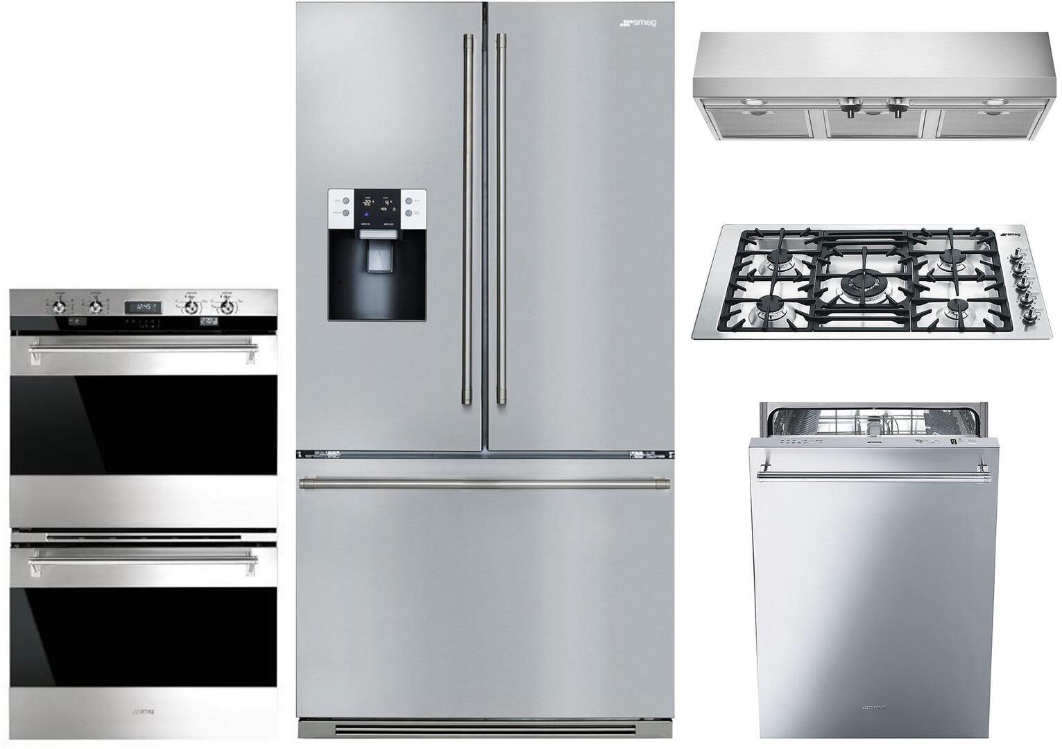 Smeg 1054388 5 piece Stainless Steel Kitchen Appliances Package