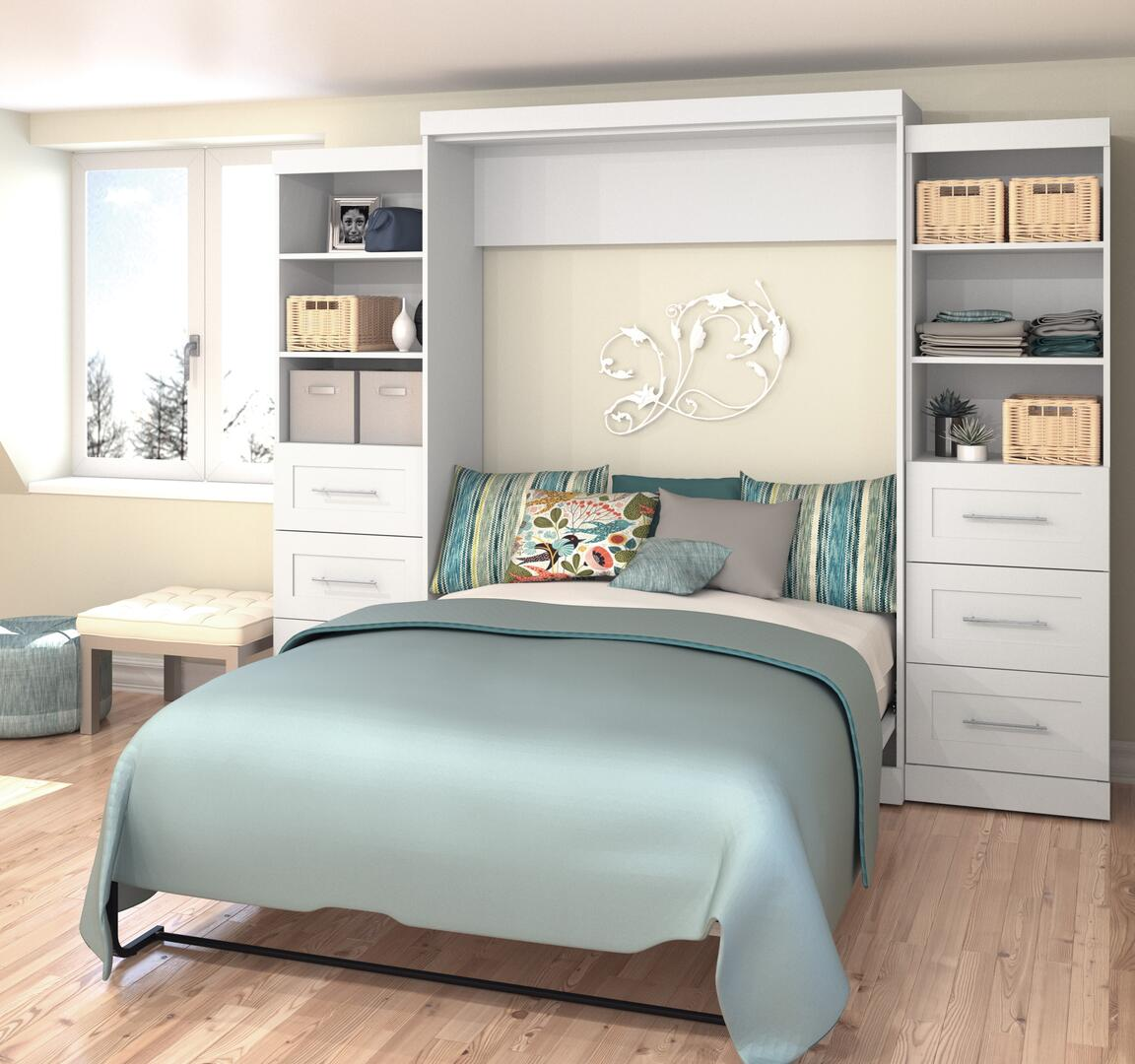Bestar Furniture 2688417 Pur Series Queen Size Murphy Bed ...