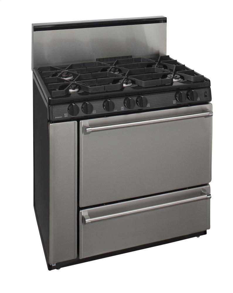 Premier p36s328bp 36 inch pro series gas freestanding for Best slide in gas range under 2000
