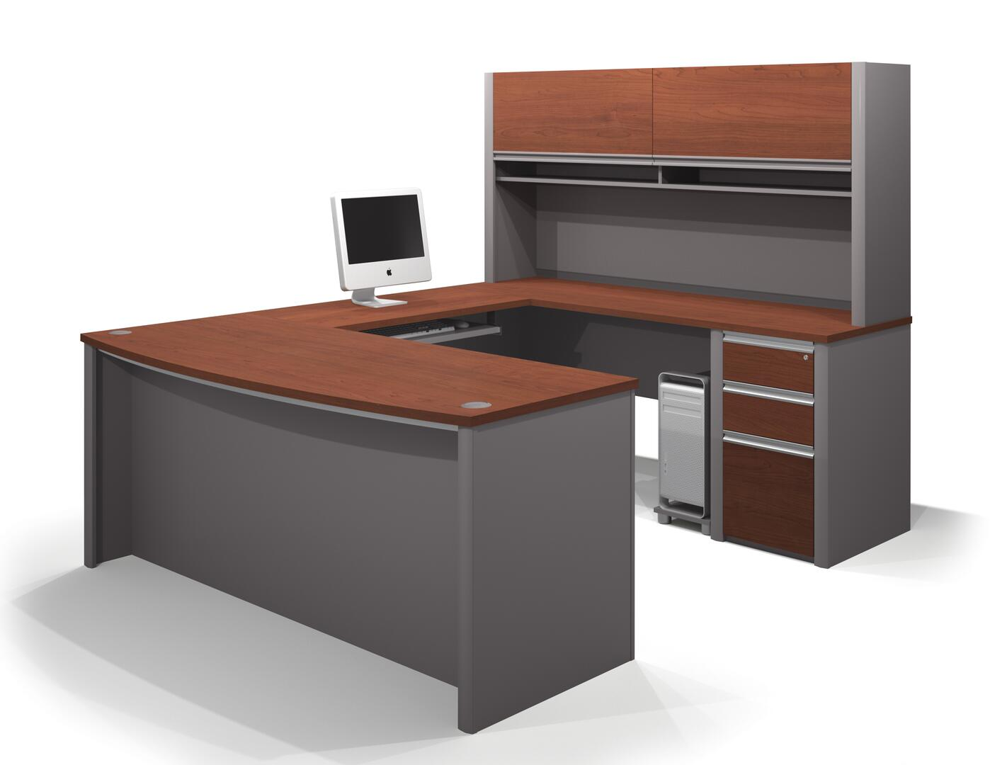 Bestar furniture 9388139 modern u shape office desk for Furniture connection