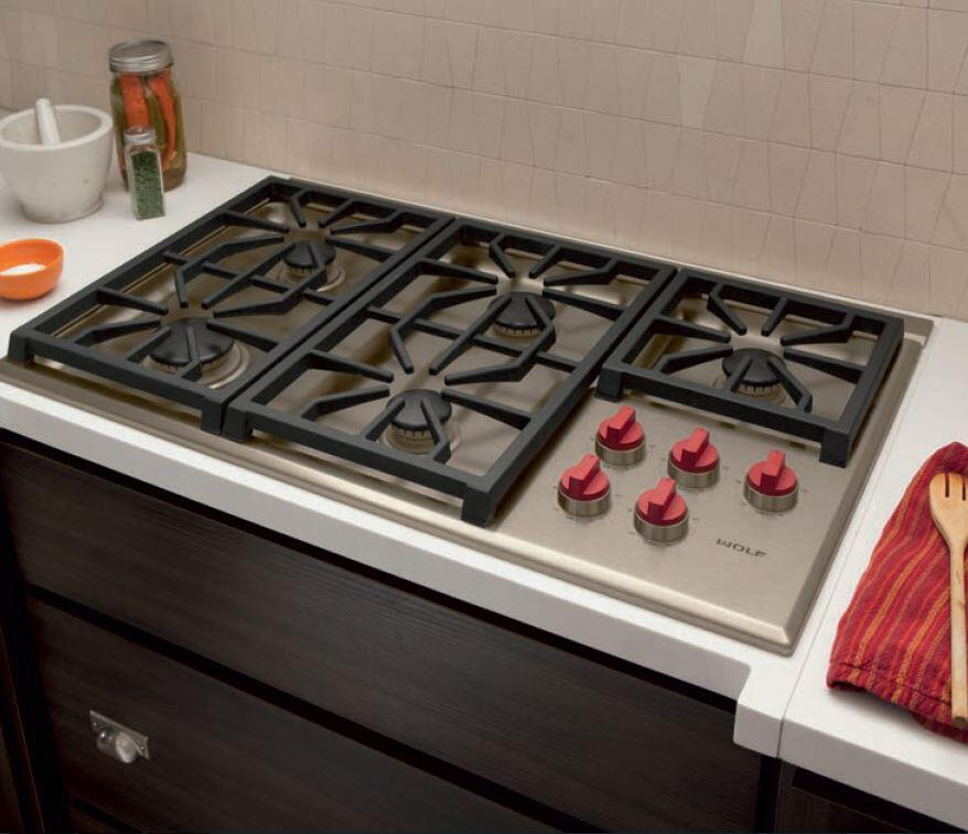 Wolf Cg365ps 36 Inch Gas Sealed Burner Style Cooktop In