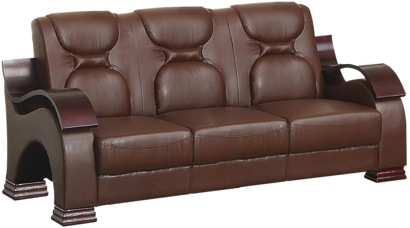 Glory Furniture G480s Stationary Faux Leather Sofa Appliances Connection