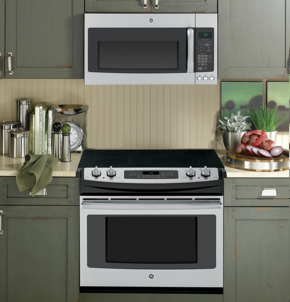 Ge Jvm7195sfss 1 9 Cu Ft Over The Range Microwave Oven