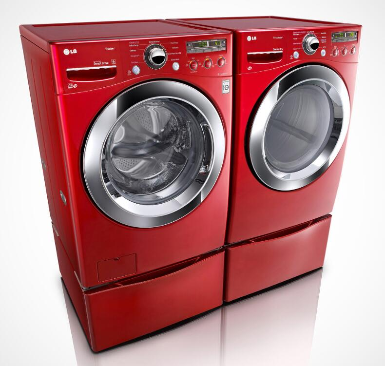 Lg Wm3250hra 4 0 Cu Ft Front Load Washer In Wild Cherry