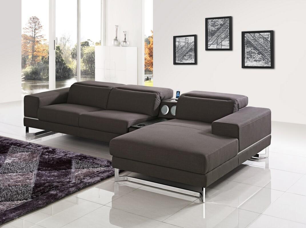 Vig furniture vgmb1416brn divani casa cinema series sofa for Sofa divani