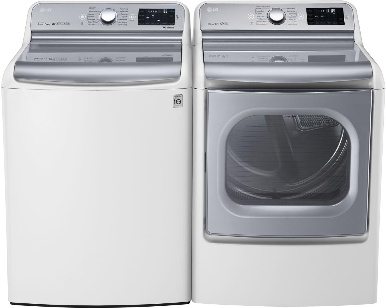 Lg Wt7700hwa 29 Inch Turbowash Series 5 7 Cu Ft Top Load