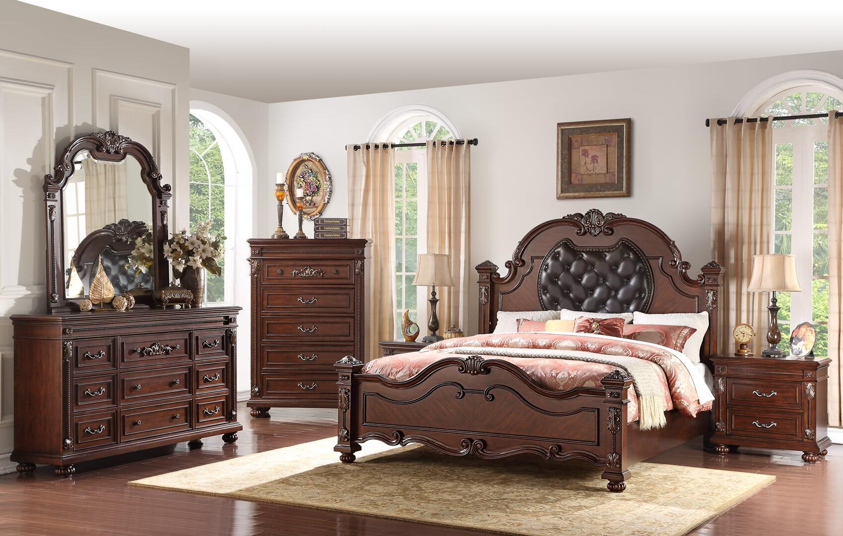 Cosmos Furniture Destiny 6 Piece King Size Bedroom Set