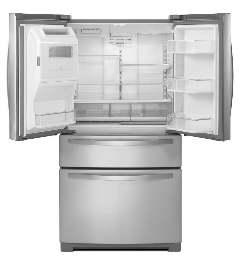 Whirlpool wrx988sibh 36 inch french door refrigerator with for 17 cu ft french door refrigerator