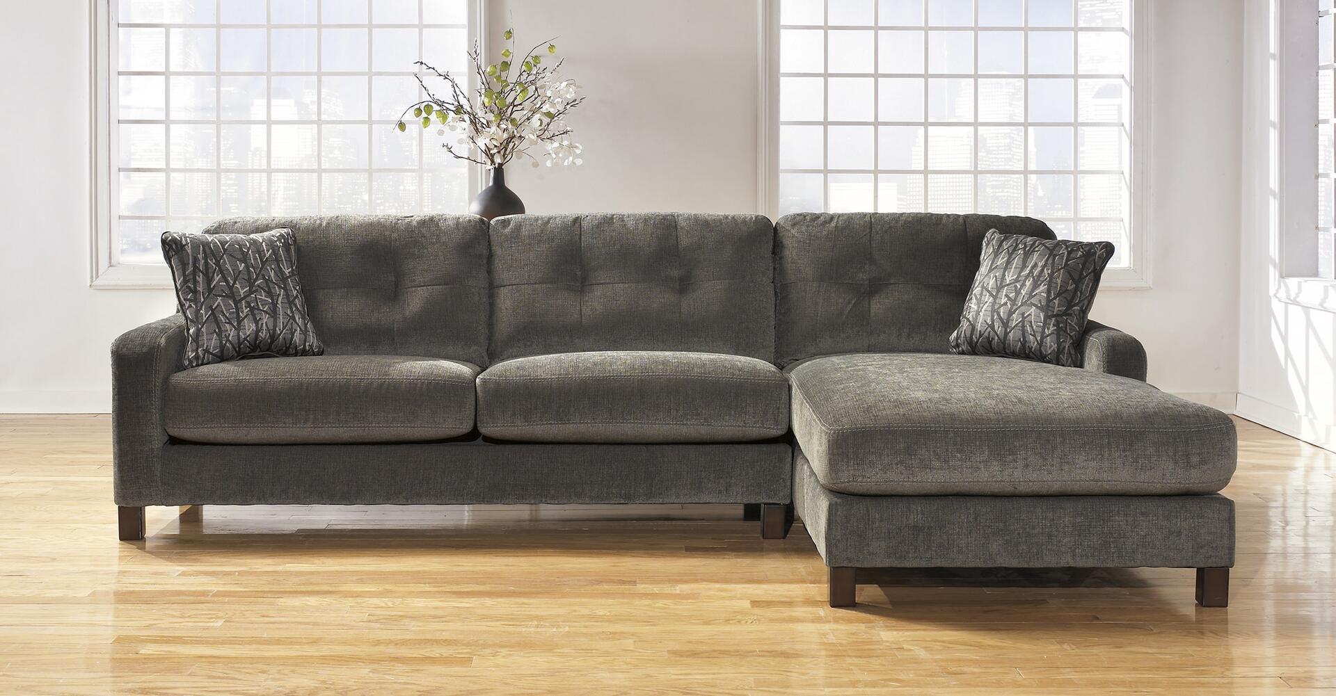 Ashley Furniture Signature Design Siroun Steel Sectional ...