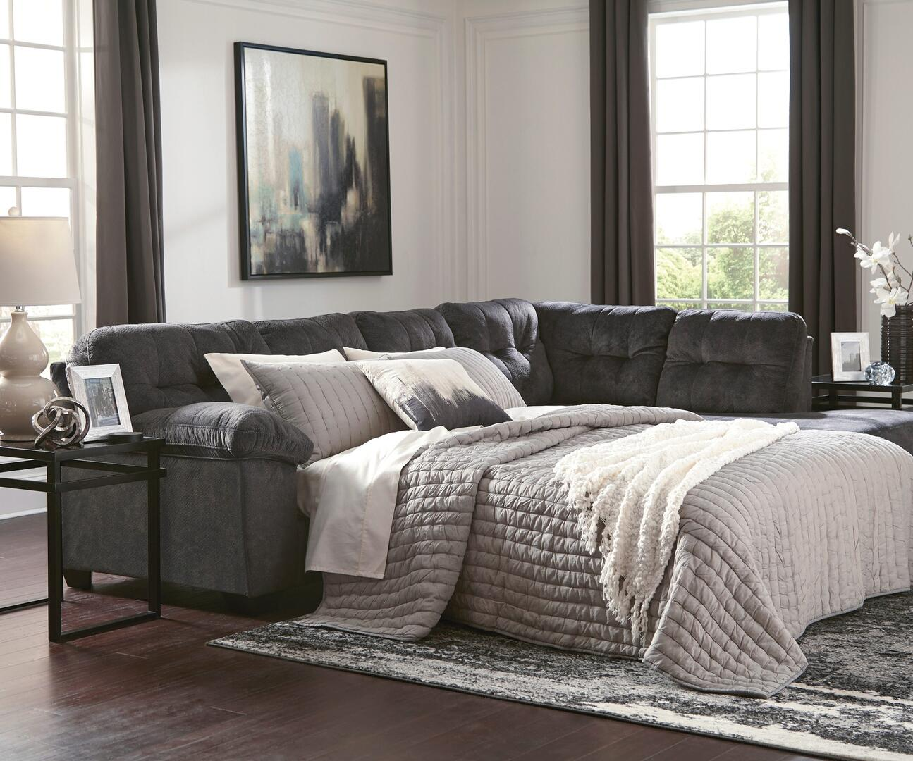 Signature Design By Ashley 705096917 Accrington Series Sleeper Fabric Sofa Appliances Connection