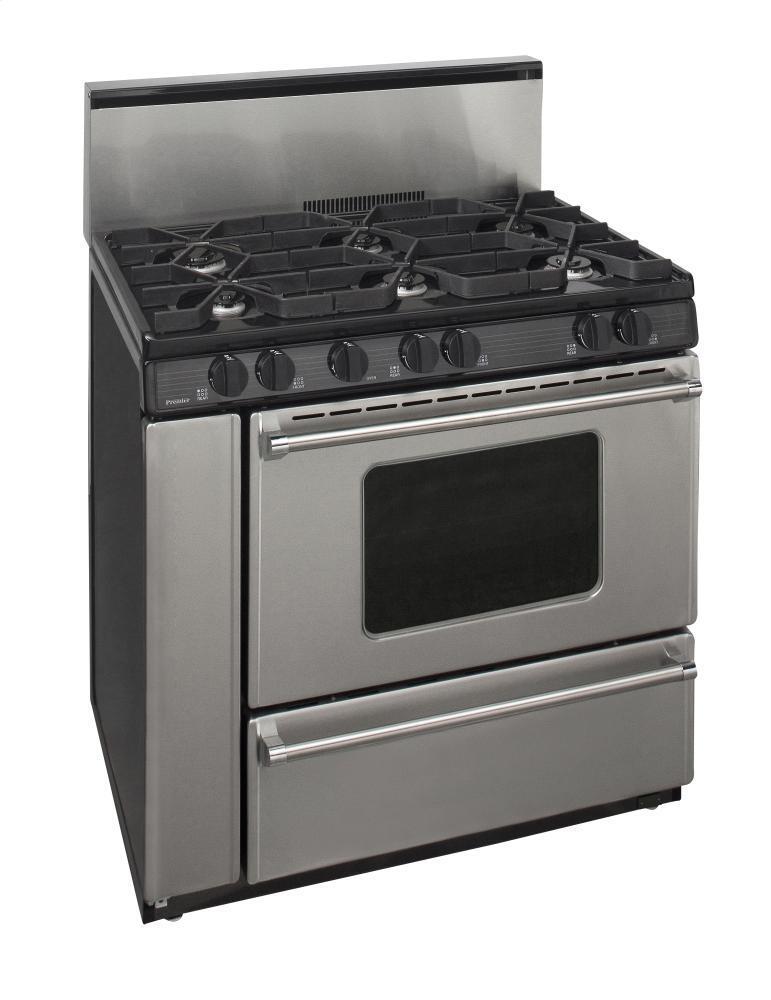 Premier P36b3282p 36 Inch Pro Series Gas Freestanding Range With Sealed Burner Cooktop  Broiler
