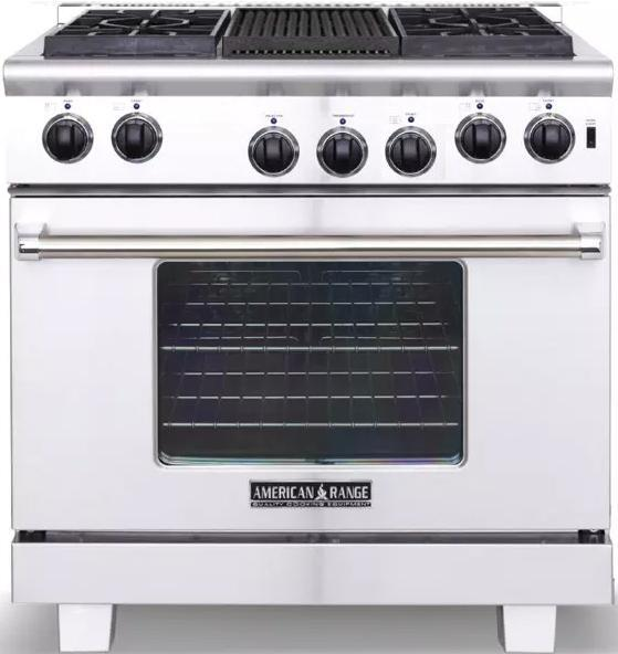 American Heritage Microwave Oven: American Range ARR364GRN 36 Inch Heritage Series Gas